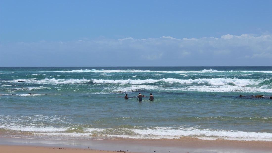 Isimangaliso St Lucia - zwemmen Indische Oceaan