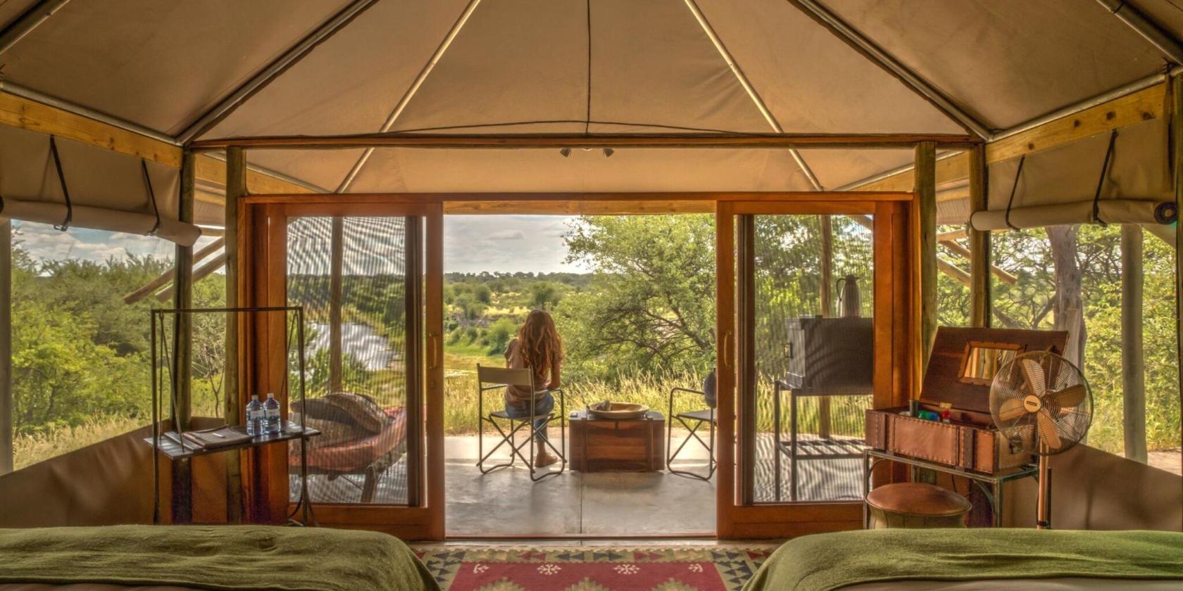 Meno a Kwena - Uitzicht vanuit slaapkamer