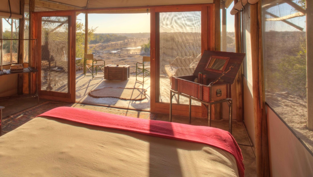Meno a Kwena - En-suite safari tent met eigen terras