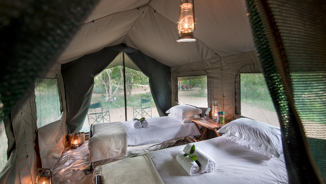 Pafuri Walking Safaris - Comfortabele en-suite safaritent