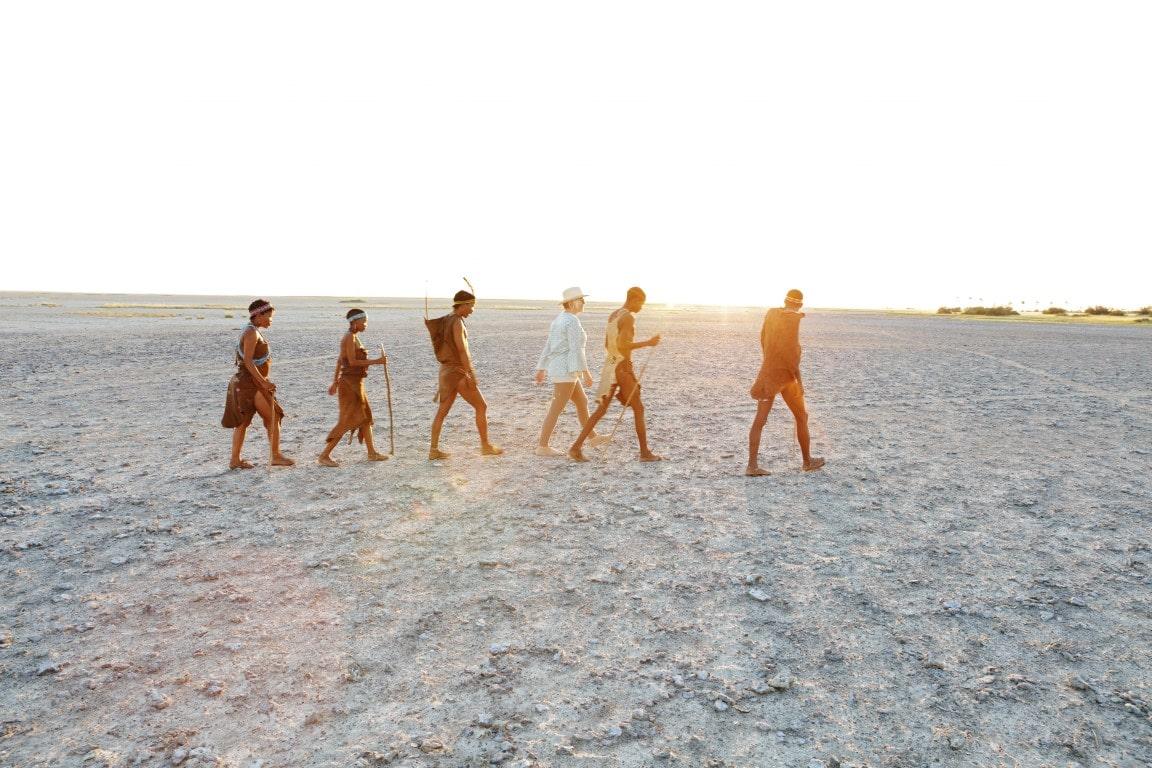 Nieuwsbrief Out in Africa - wandeling Makgadikgadi Pans vanuit San Camp